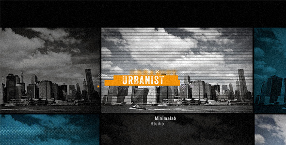 AE模板-动感快节奏宽银幕大都市城市宣传栏目包装模版Urbanist免费下载