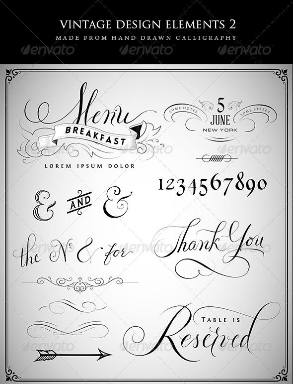 GraphicRiver Vintage Design Elements Set 2 6974547