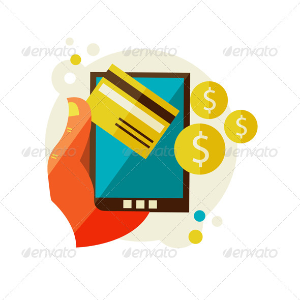 GraphicRiver Processing Of Mobile Payments 6975729