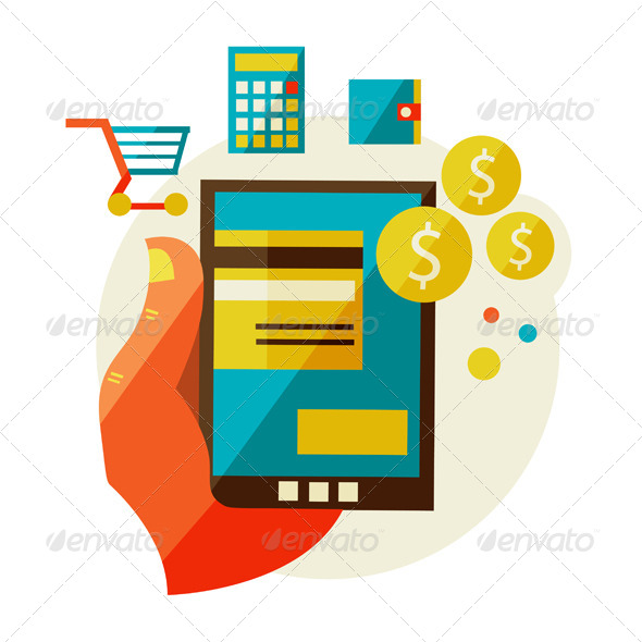 GraphicRiver Processing Of Mobile Payments 6975786