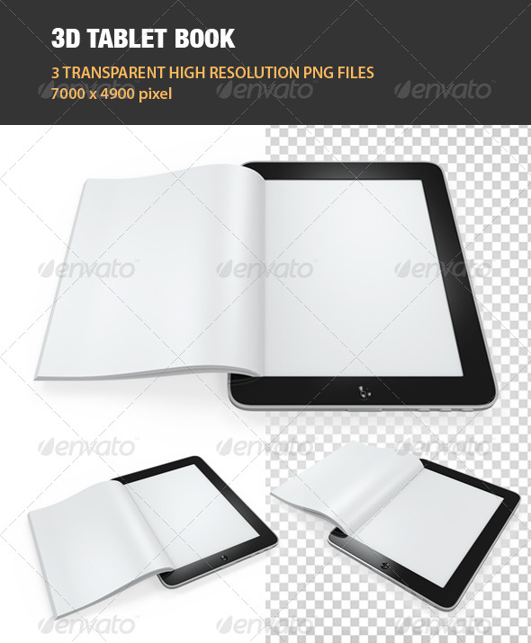 GraphicRiver 3D Tablet Book 6976015