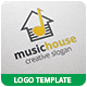 Music House Logo Template - GraphicRiver Item for Sale