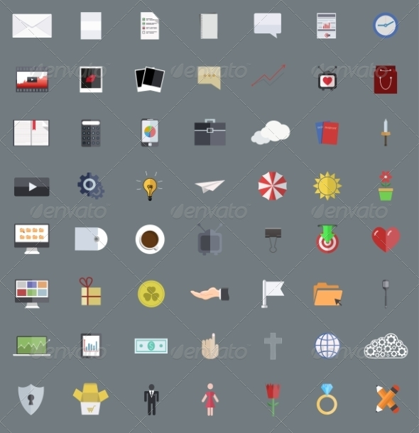 GraphicRiver Modern Flat Design Icons 6976153