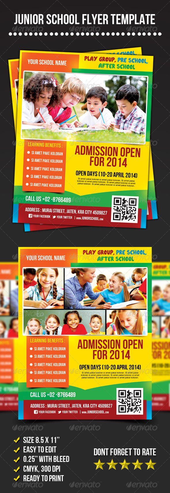 Junior School Flyer - Corporate Flyers