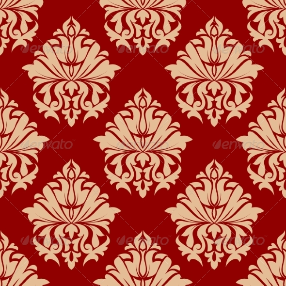 GraphicRiver Retro Damask Style Arabesque Pattern 6976635