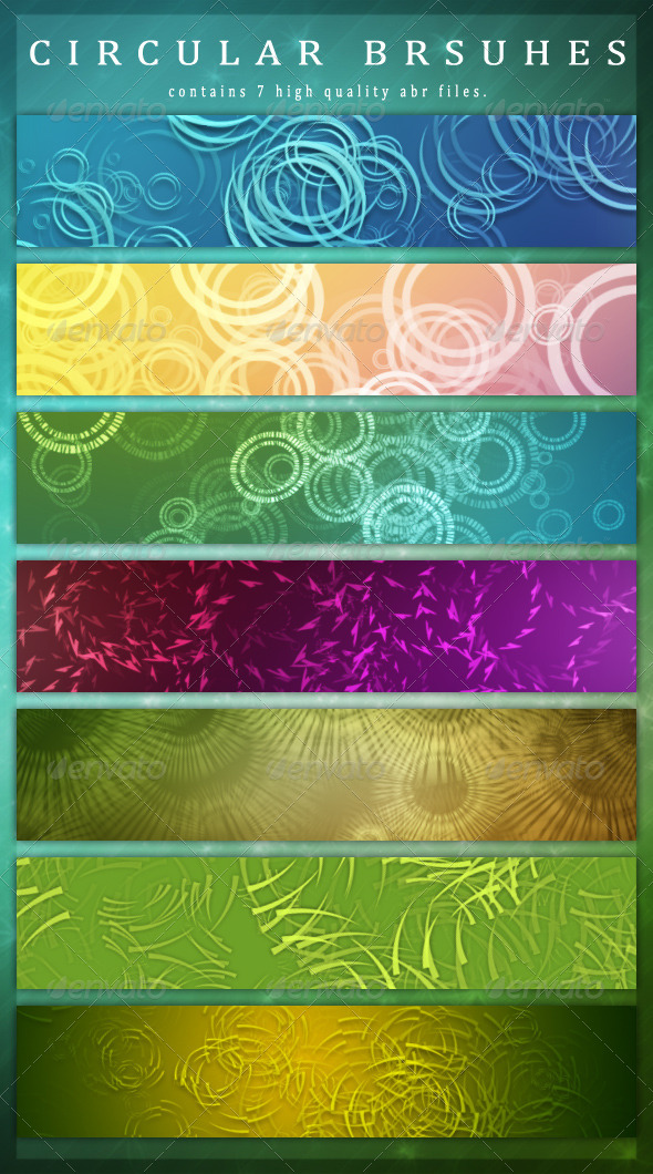 GraphicRiver Circular Brushes 6959338
