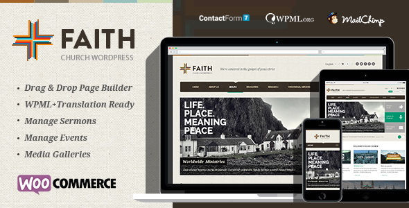 Faith - Multi Purpose WordPress Theme
