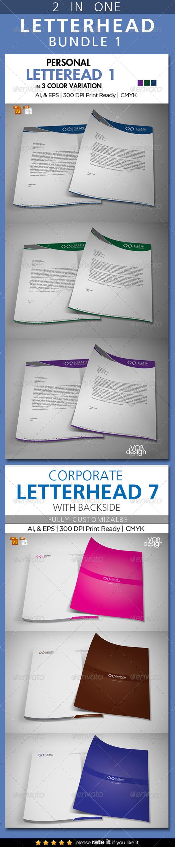 GraphicRiver Letterhead Bundle 1 6976888