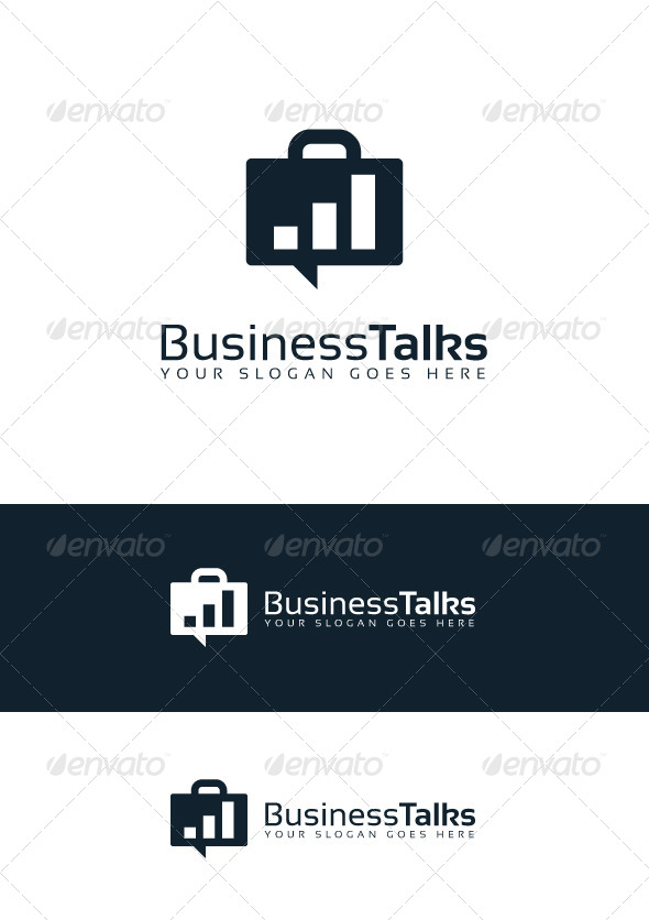 GraphicRiver Business Talks Logo 6976977