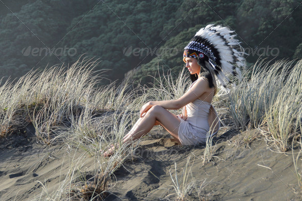 Gorgeous Indian Chief - Stock Photo - Images