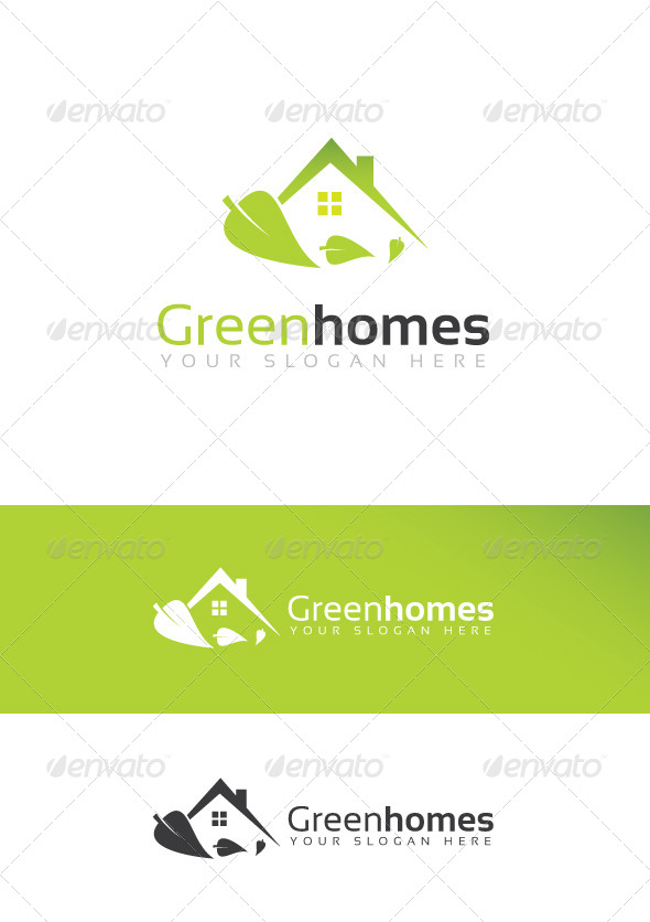 GraphicRiver Green Homes Logo 6977036