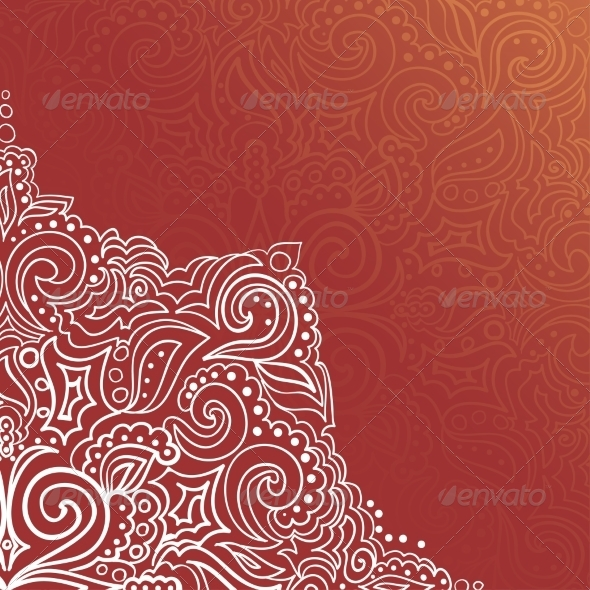 GraphicRiver Background with Lace Ornament 6977180