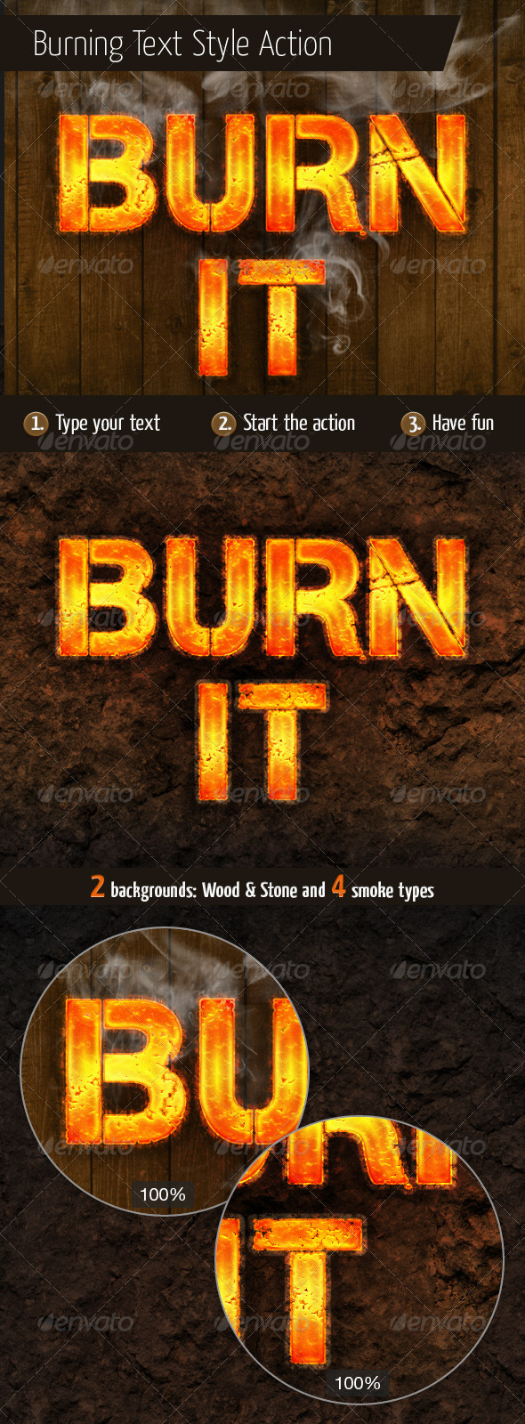 GraphicRiver Burning Text Style Action 6977261