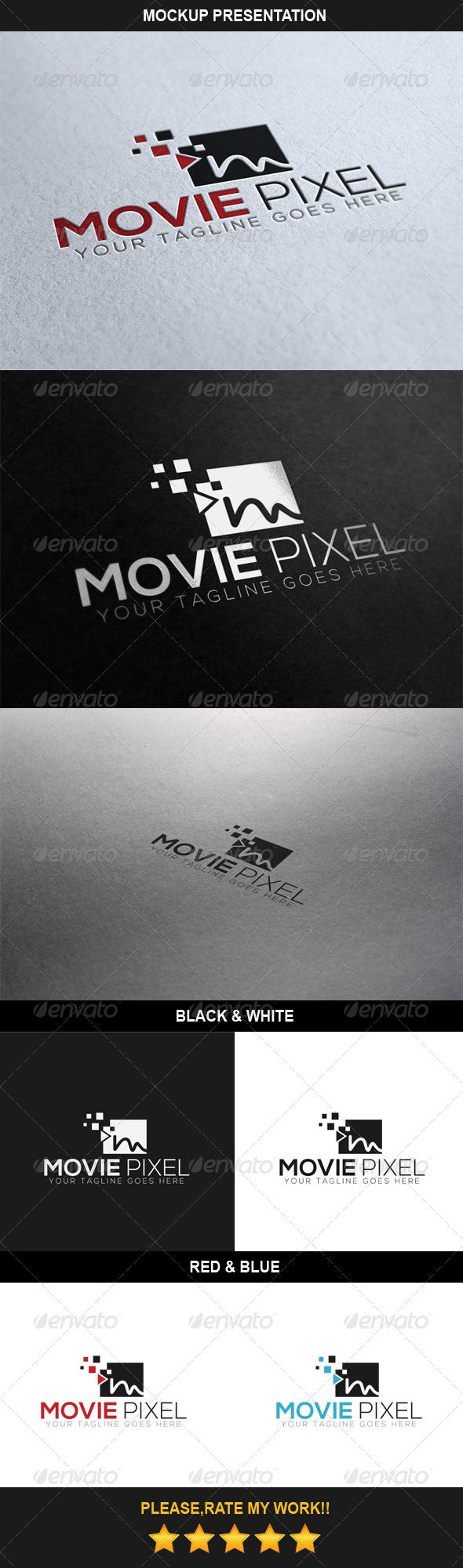 GraphicRiver Movie Pixel Logo 6977377