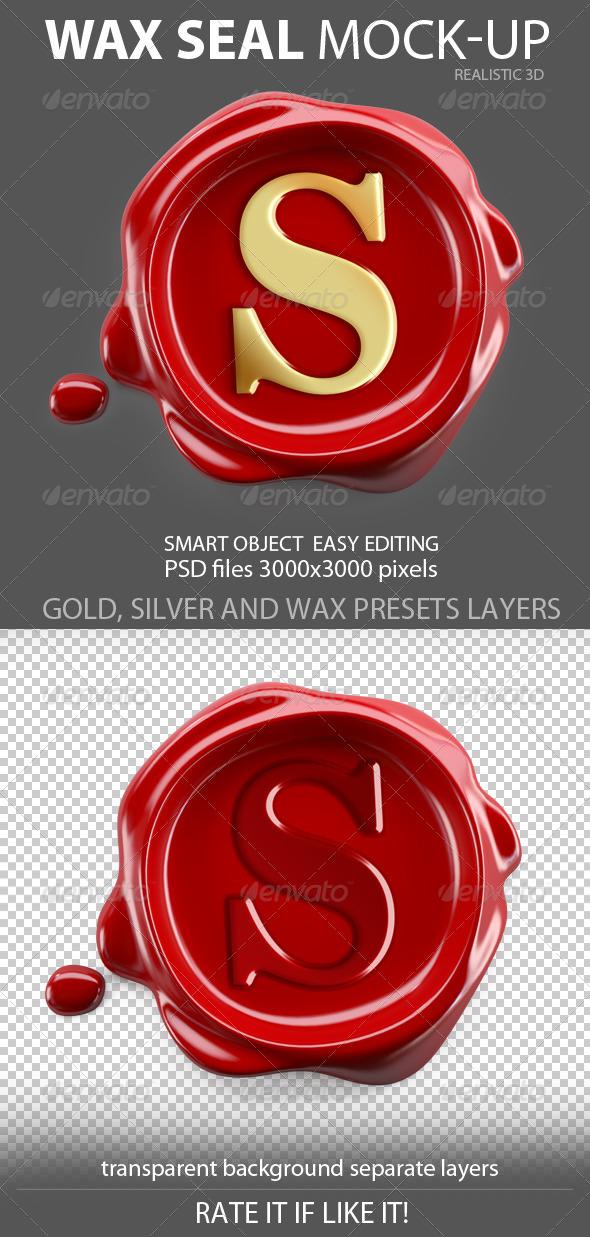 GraphicRiver Wax Seal mockup 6977387