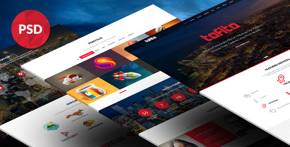 ThemeForest TOFITO One Page Business Portfolio PSD Template 6977388