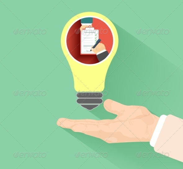 GraphicRiver Lightbulb with Hand 6977464
