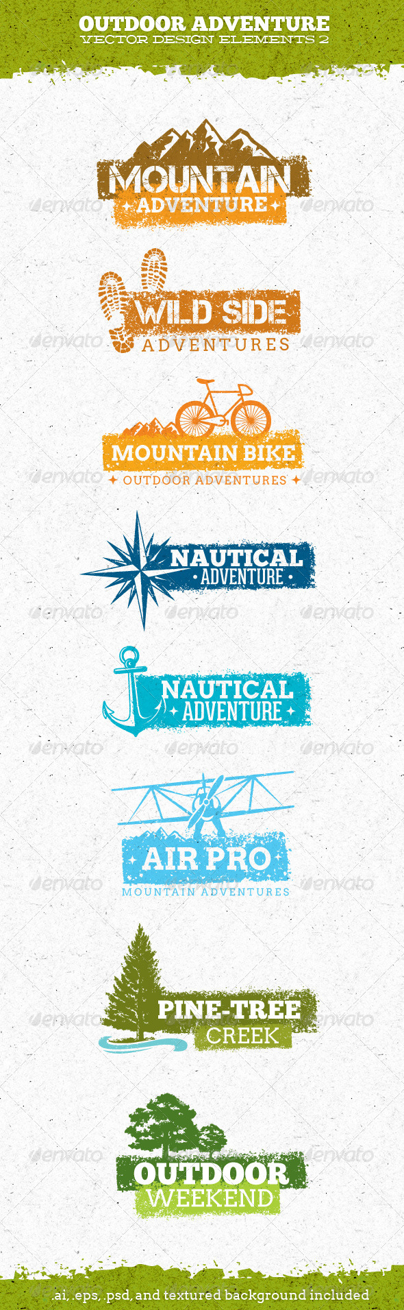 GraphicRiver Outdoor Adventure Creative Vector Elements 2 6977467