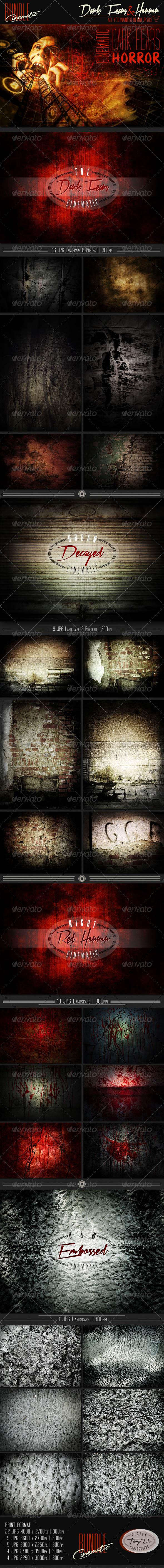 GraphicRiver Dark Fears & Horror Cinematic Bundle 6977536