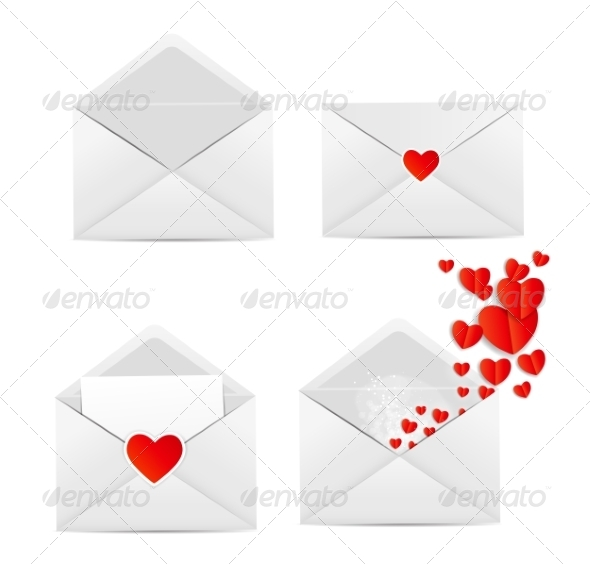 GraphicRiver White Envelope Icon Vector Illustration 6977548