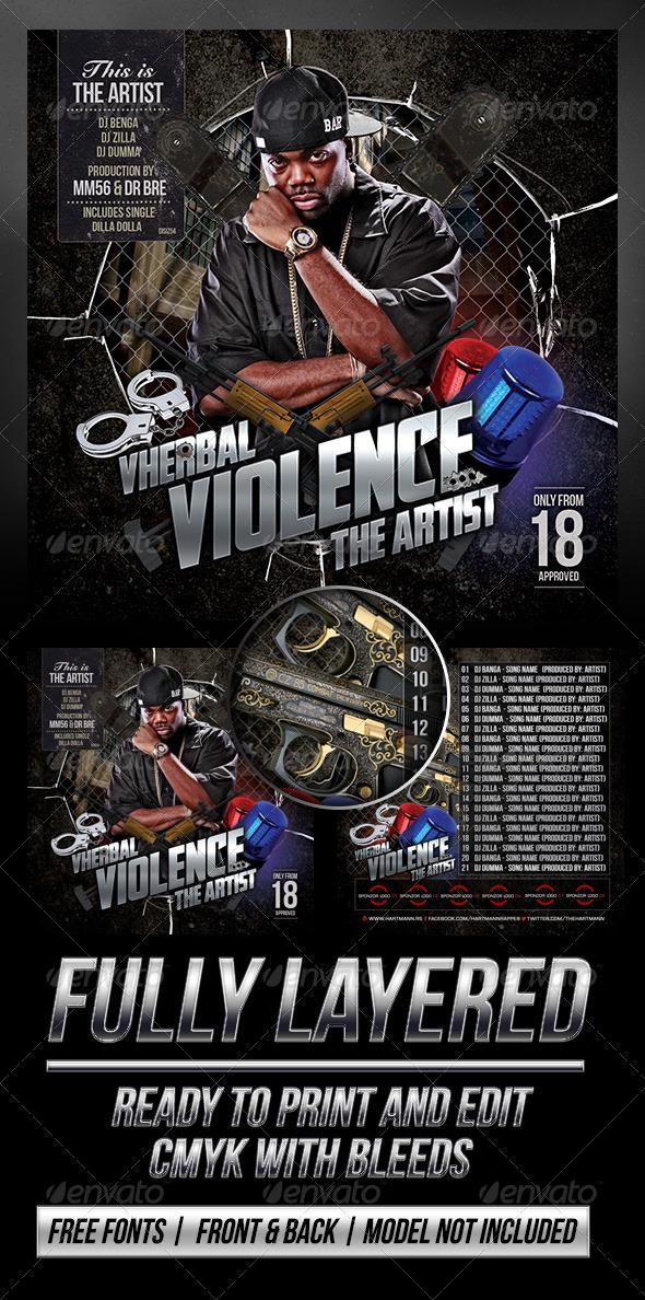 GraphicRiver Vherbal Violence Mixtape Cover 6977579