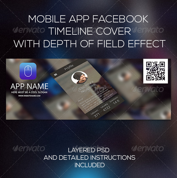 GraphicRiver Mobile App Facebook Timeline Cover 6977696