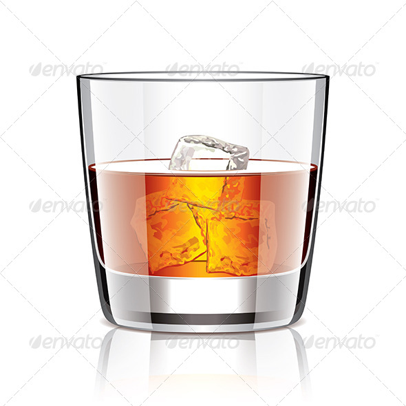GraphicRiver Glass of whiskey 6977706