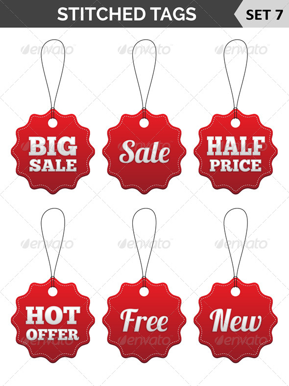 GraphicRiver Stitched Tags 6977718