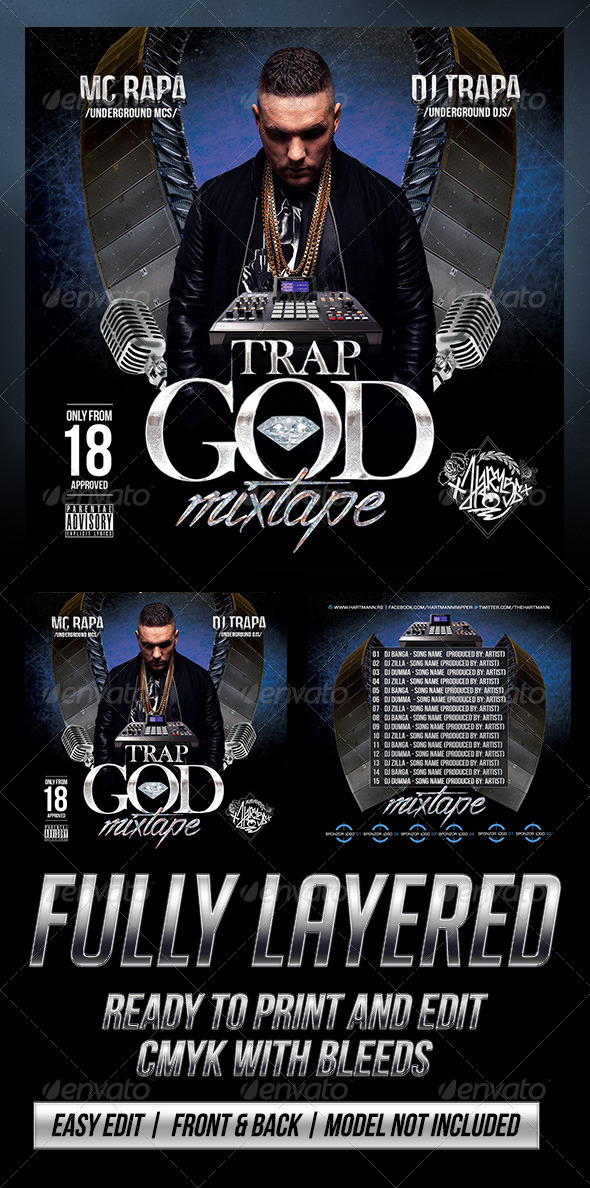 GraphicRiver Trap God Mixtape Cover 6977745