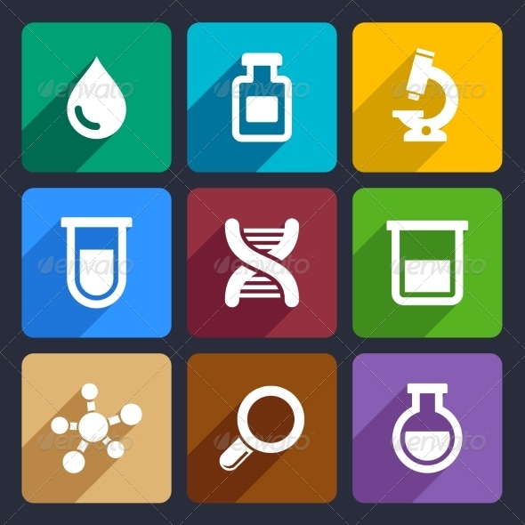 GraphicRiver Chemical Flat Icons Set 49 6977761