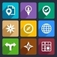 Map, GPS and Navigation  Flat Icons Set 46