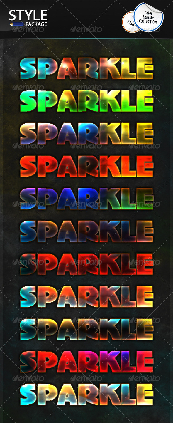 GraphicRiver Color Sparkle Styles 6977766