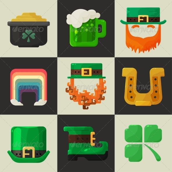GraphicRiver St Patricks Day Icons 6977777