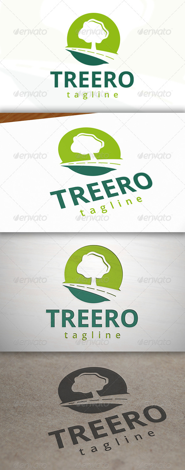 GraphicRiver Tree Road Logo 6977824