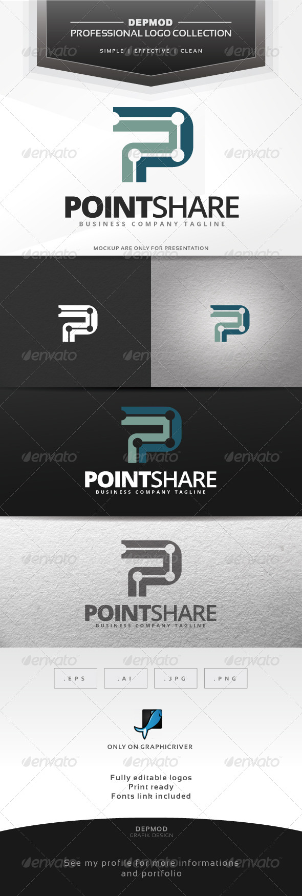 GraphicRiver Point Share Logo 6977956
