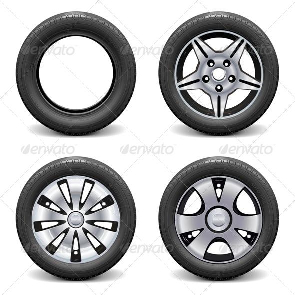 GraphicRiver Vector Wheels 6977974