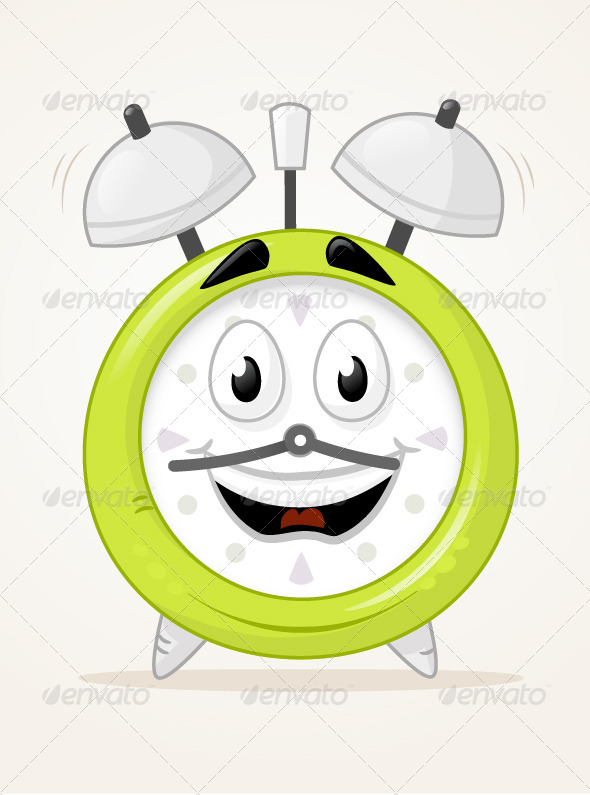 GraphicRiver Alarm Clock Character 6978102