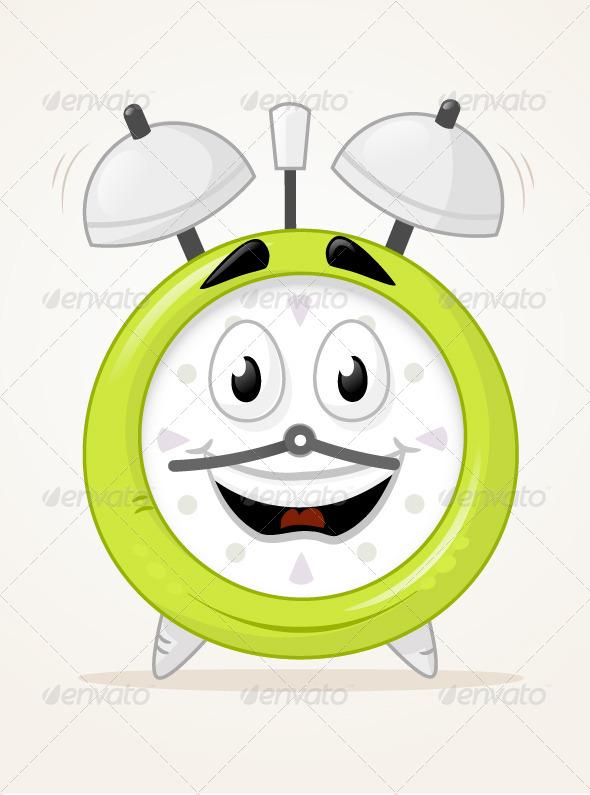 GraphicRiver Alarm Clock Character 6978102