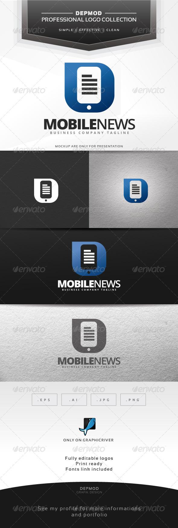 GraphicRiver Mobile News Logo 6978104