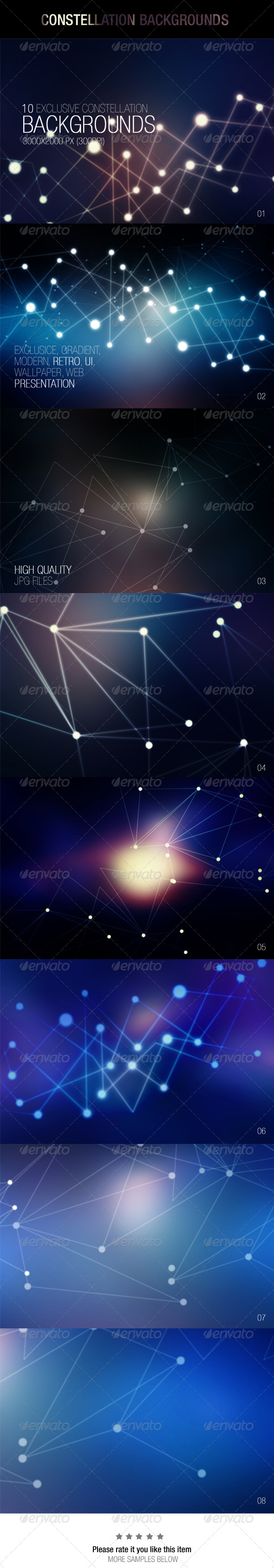 GraphicRiver Constellation Backgrounds 6978127