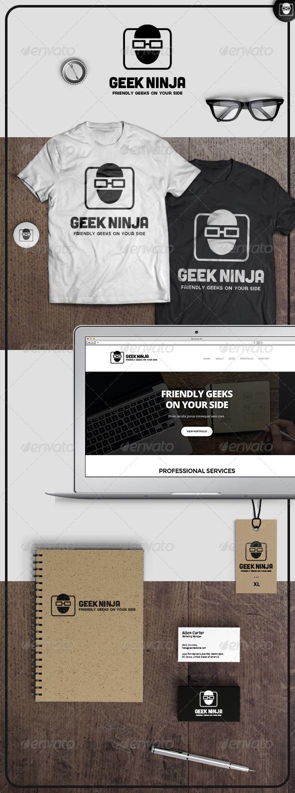 GraphicRiver Geek Ninja Logo 6978531
