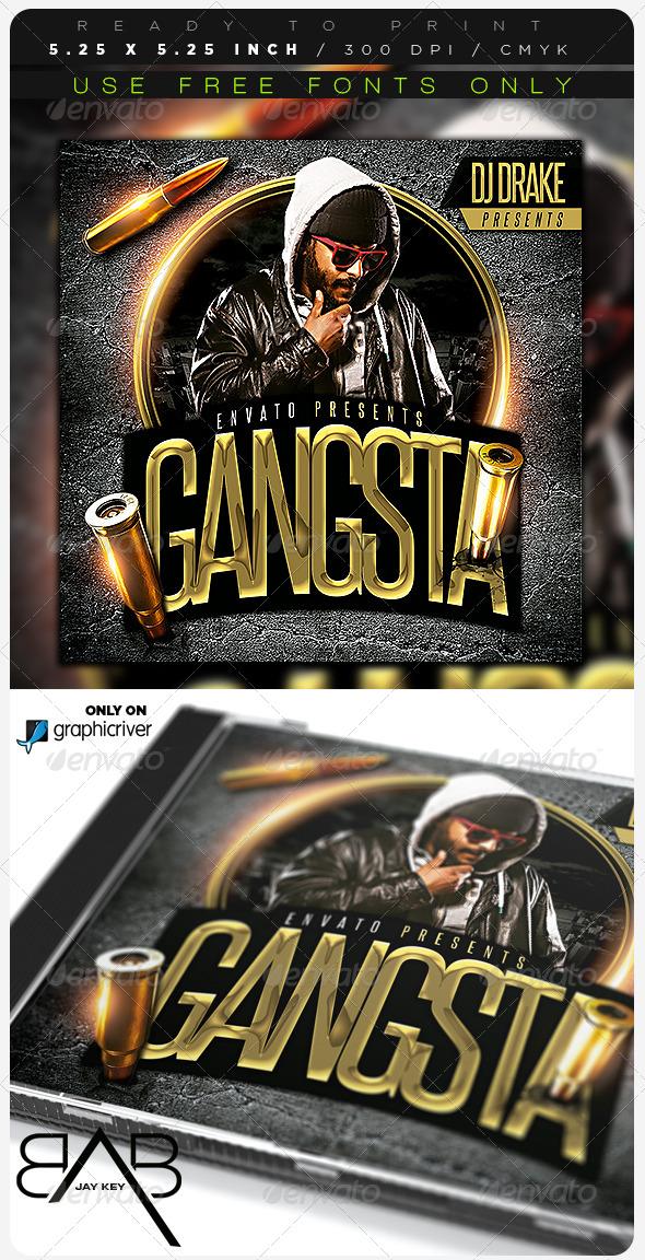 GraphicRiver Gangsta Hip Hop CD Album Cover 6978583