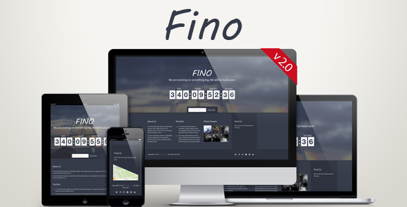 Fino - Coming Soon Template