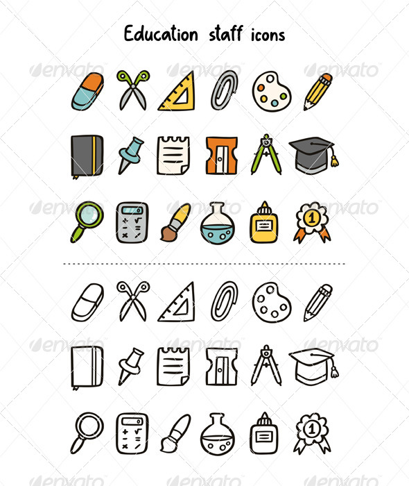 GraphicRiver Education Staff Icons 6978623