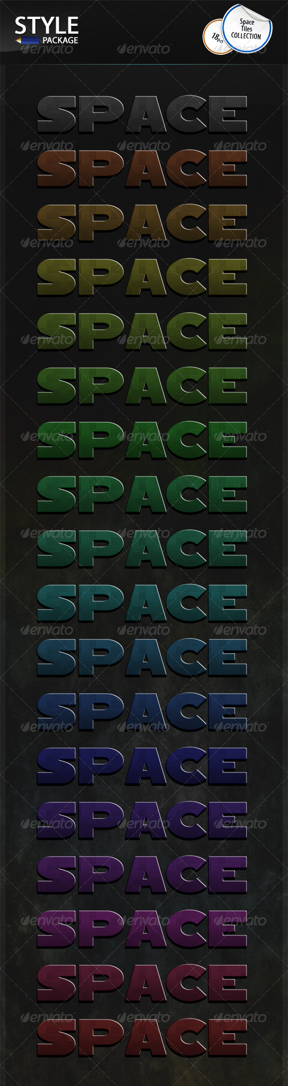 GraphicRiver Space Tiles Styles 6978626