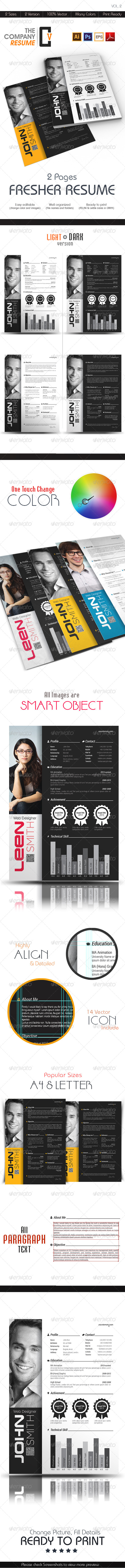 GraphicRiver The Company Fresher Resume 6979070