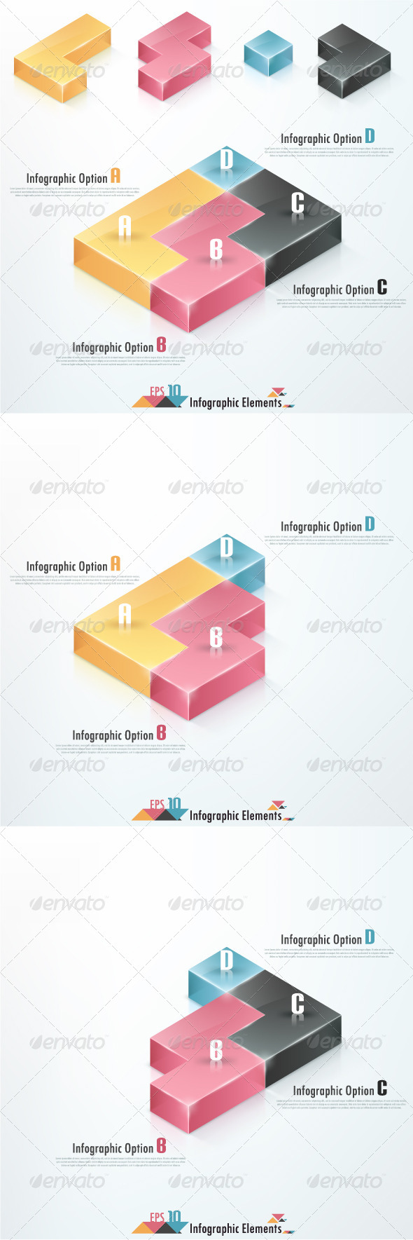 GraphicRiver Modern Infographic Banner With Tetris Elements 6979121