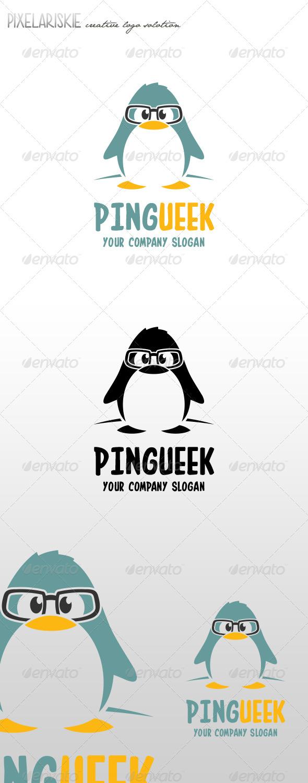 GraphicRiver Pingueek Little Pinguin Logo 6979220