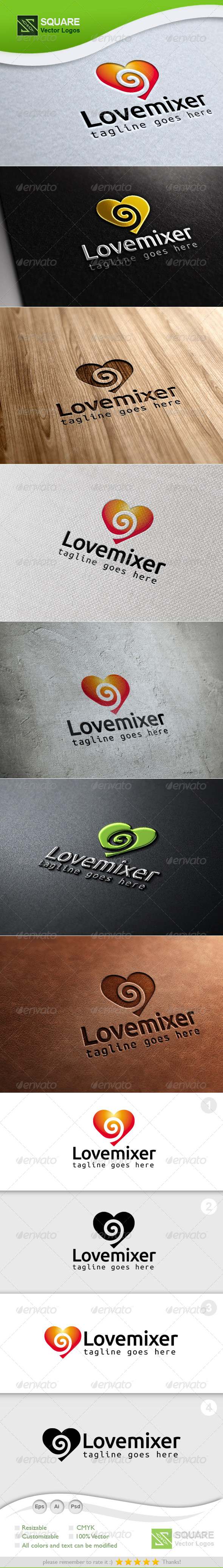 Love, Mixer Vector Logo Template - Symbols Logo Templates