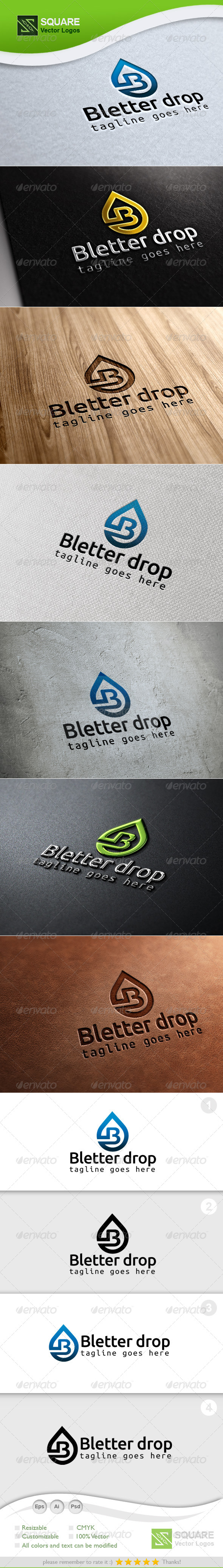 B Drop Vector Logo Template